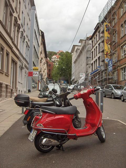 cool italian scooters in stuttgart flickr photo sharing. Black Bedroom Furniture Sets. Home Design Ideas