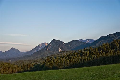 trees sky mountains alps grass forest kärnten carinthia alpen karawanken schlatten dcdead