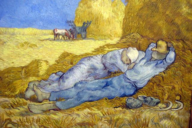 Paris - Musée d'Orsay: Van Gogh's La méridienne ou La sieste, d'aprés Millet