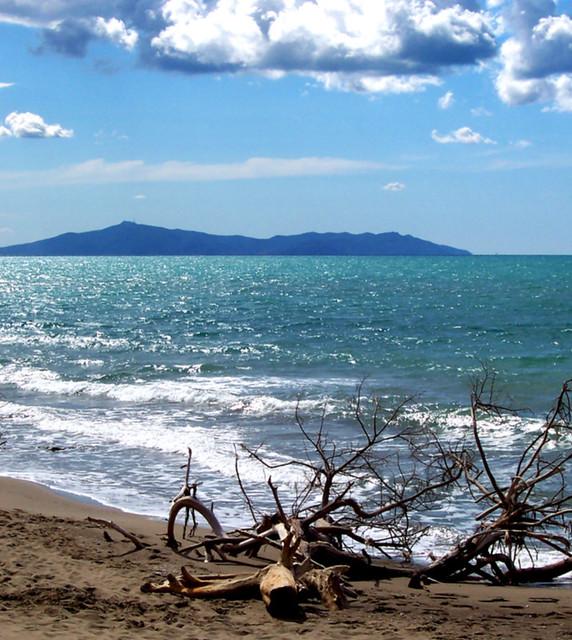 Spiaggia del Parco della Maremma in Autunno