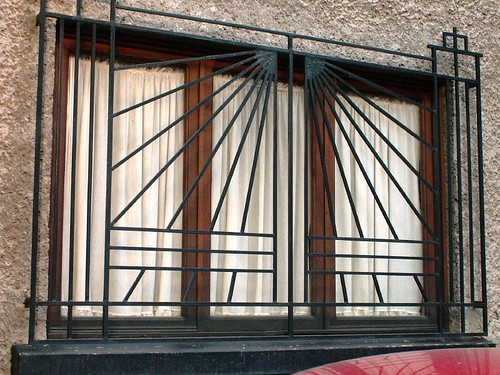 Decorative window bars outside or inside for Window bars design