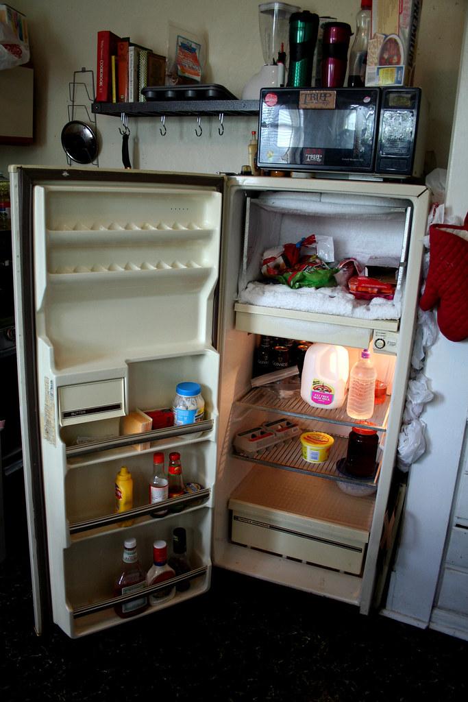our sad little refrigerator