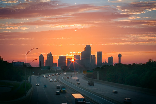 skyline sunrise dallas oakcliff