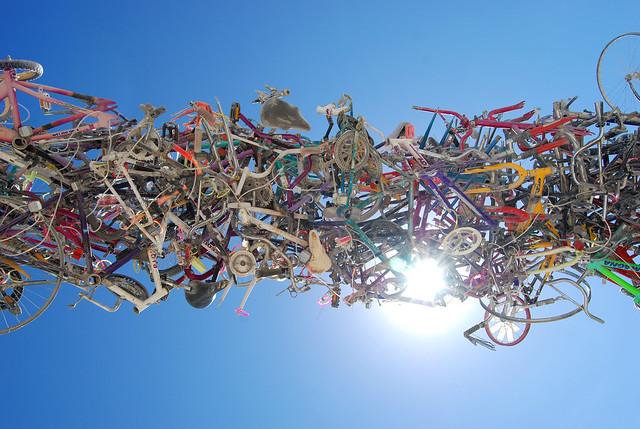 Bike Rack, looking up
