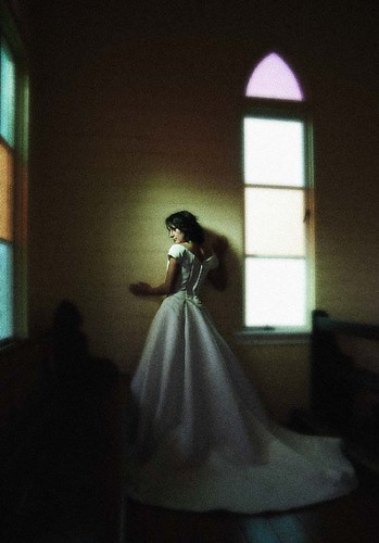 Bride in Country church