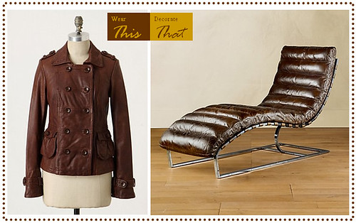 Brown leather chaise for Aico trevi leather armless chaise in brown