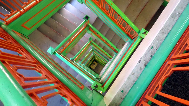 Spiral Staircase A Square Spiral Staircase In Some