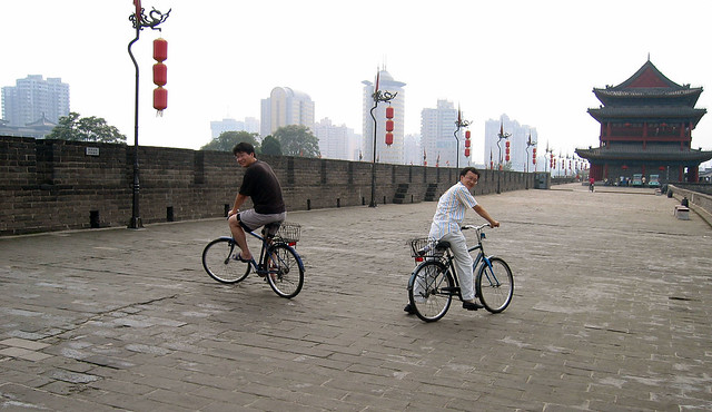 City Wall of Xi'an by CC user wangjs on Flickr