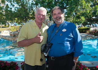 Huell Howser and Wiz.
