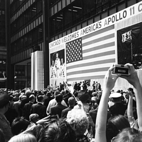 Apollo 11 astronauts in Chicago's Daley Plaza