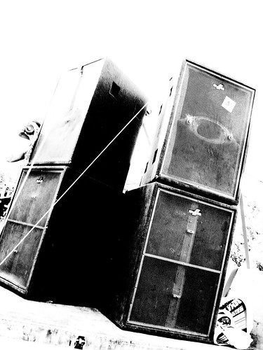 sound system, CC-BY-NC luca https://secure.flickr.com/photos/lemansico/762718678/