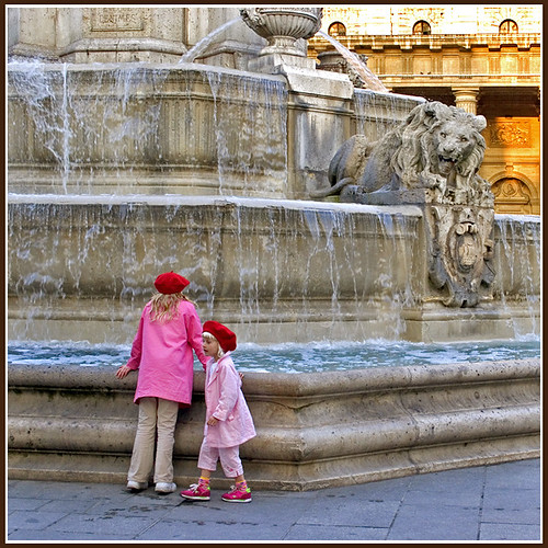 Children at St. Sulpice Fountain, Paris