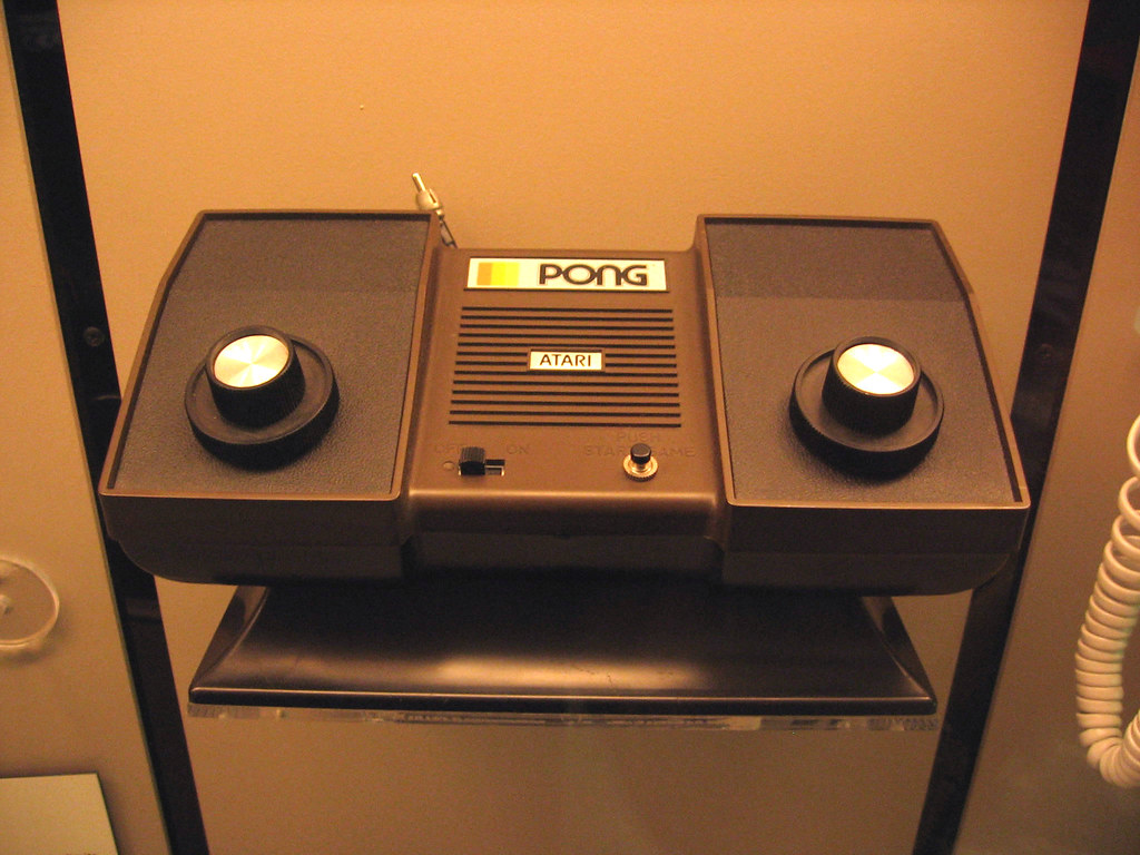 Atari Pong home console video game