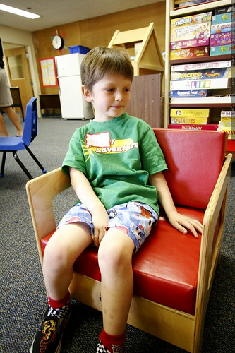 nick, chilling in the pre k lounge    MG 3692