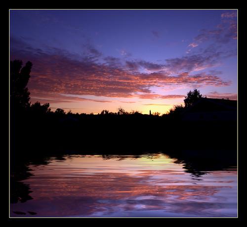 california ca trees sunset sky orange lake reflection water rain clouds photoshop purple sandiego flood elcajon fake el ripples cajon flamingpear colorphotoaward