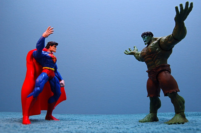 Superman meets Hulk