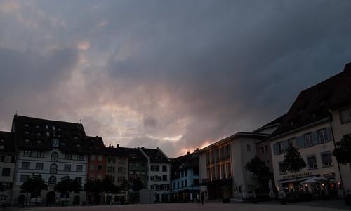 sunset sun clouds square switzerland sony schaffhausen 330 a330 lakeconstance sonya330 sony330