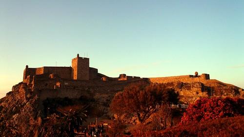 trees sunset castle portugal zonsondergang bomen fort arbres 169 alentejo fortress château marvão forteresse kasteel coucherdusoleil