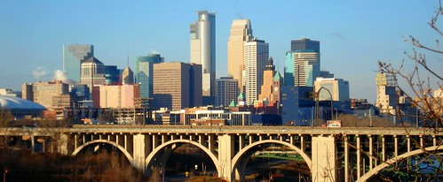 Minneapolis Skyline & 10th Ave. Bridge