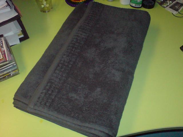 Large Black Towel