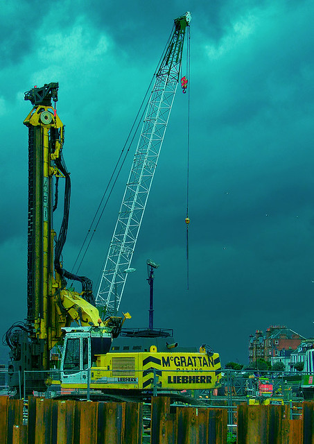 Pile Driver with Crane