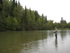 Tim fishing in the Little Su