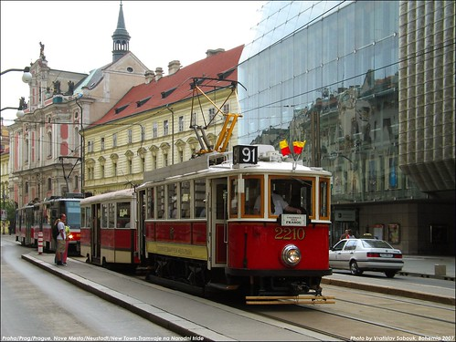 Praha / Prague /Prag- Tramvaj/Streetcars on Narodni Avenue