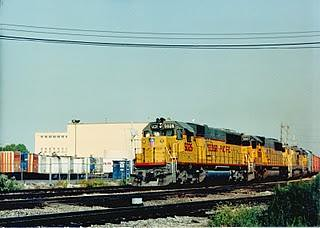 Westbound U.P transfer train at Hayford JCT. Early Sept 1990. by Eddie from Chicago