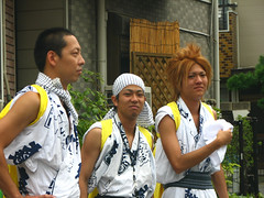 Young yanquis at the Tsukamoto festival