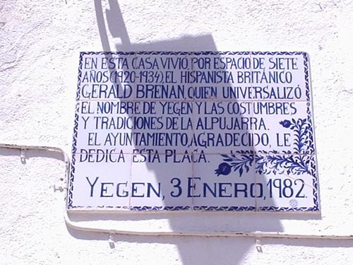 Gerald Brenan plaque