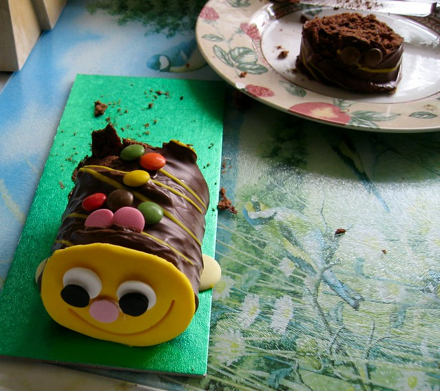 Chocolate Cake Caterpillar