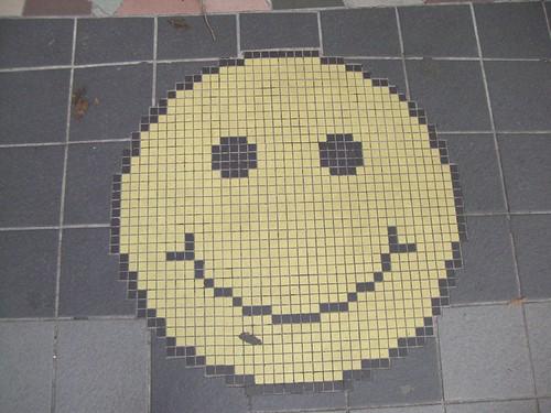 Humor op straat, smiley