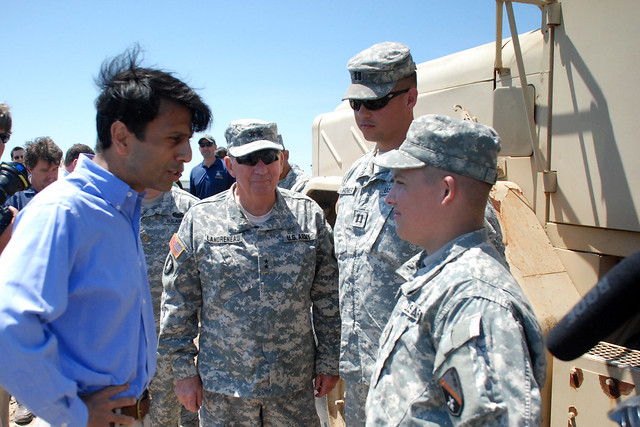Governor Bobby Jindal and local officials