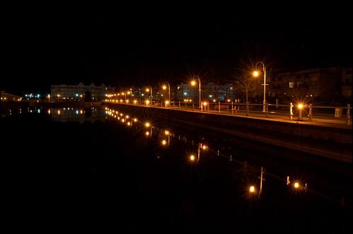 night marina lights cobourg