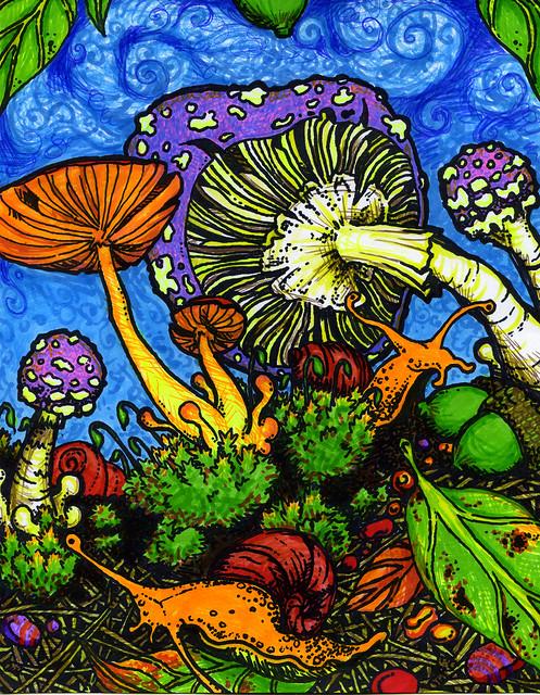 magic mushroom art - photo #41