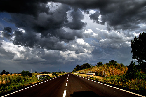 road sunset sky italy clouds strada tramonto nuvole cielo modena marzaglia