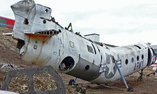 abandoned aircraft hulk derelict boneyard midatlanticairmuseum h21 piasecki ch21b vertolh21bworkhorse cnb117 abandonedplane n4361m