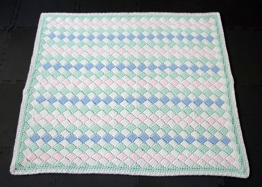 Tunisian Crochet Baby Blanket Full Size A Photo On Flickriver
