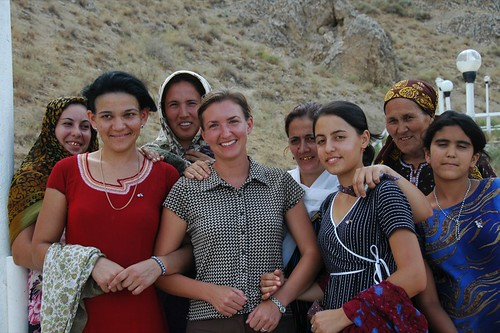 Audrey with Women, Turkmenistan