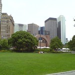 Battery Park City and financial district