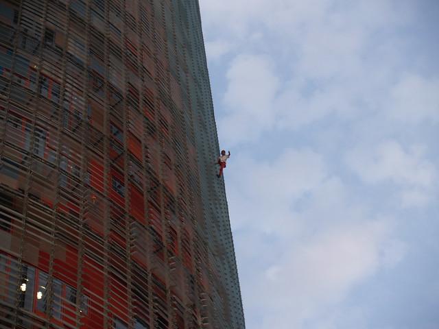 Alain Robert en Barcelona