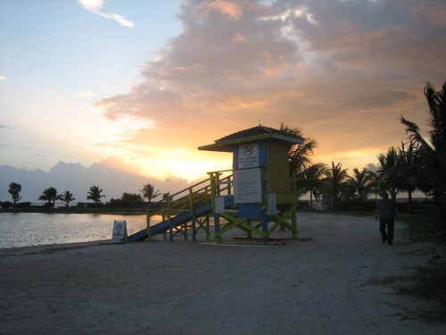 beach sunrise florida homestead lifeguardstand bayfrontpark