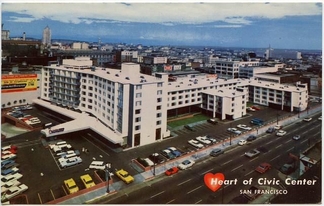 Dell webb 39 s towne house trinity plaza heart of civic ce for Civic motor inn san francisco