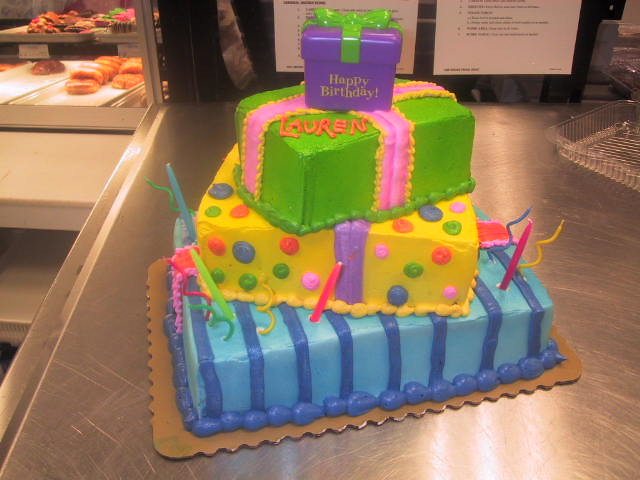 Custom birthday cake publix