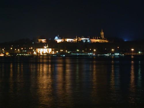 Topkapı palota éjszaka