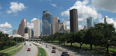 Houston Skyline from Allen Pkwy