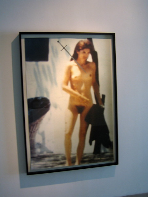 TJ Wilcox at Metro Pictures (Jackie O. nude paparazzi shot)