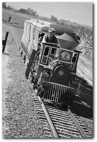 Train Journey (b/w)