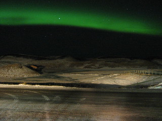 The Aurora seen from Lake Mývatn
