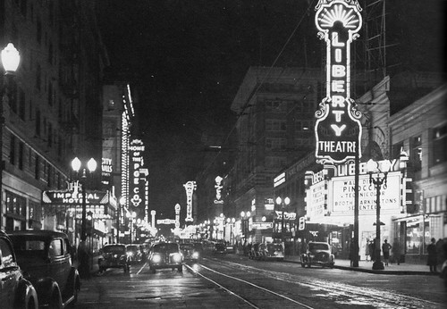 Broadway at night, 1940
